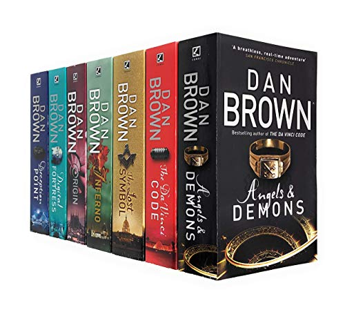 Robert Langdon Series Collection 7 Books Set By Dan Brown (Angels And Demons, The Da Vinci Code, The Lost Symbol, Inferno, Origin, Digital Fortress, Deception Point) Paperback – January 1, 2018