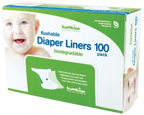 Bumkins Flushable Diaper Liners 100 count( 3pack),Neutral