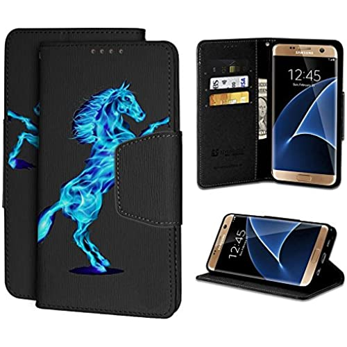Beyond CellInfolioGalaxy S7 Edge Case, S7 Edge Case, Premium 2 Layer Protection Luxury PU Leather Folio Flip Case With Built in Media Kickstand&Card Slots-Blue Sales