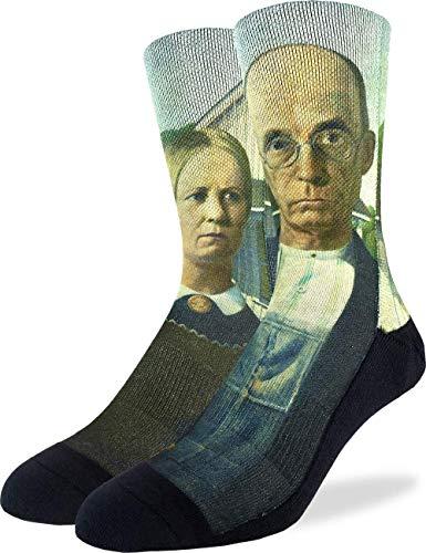 (Good Luck Sock Men's American Gothic Socks - Black, Adult Shoe Size 8-13)