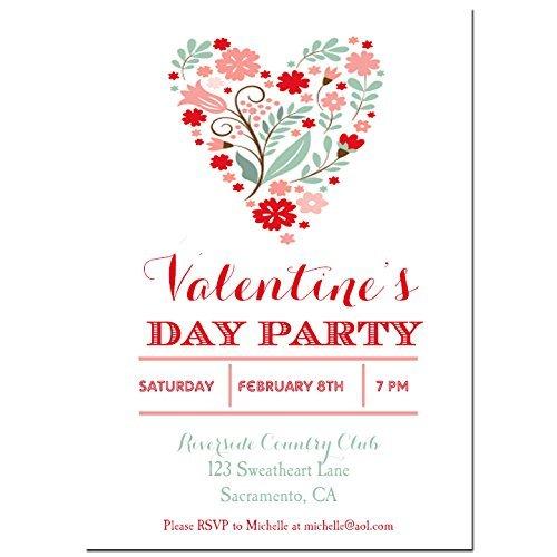 Amazon Valentines Invitation Printed With