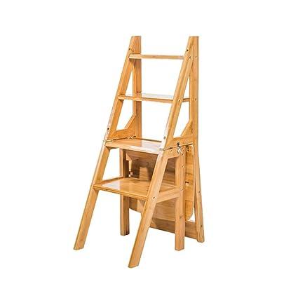 Amazoncom Sevts 4 Step Climbing Ladder Folding Chair Solid Wood