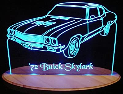 1972 Skylark Acrylic Lighted Edge Lit LED Sign / Light Up Plaque 72 VVD8
