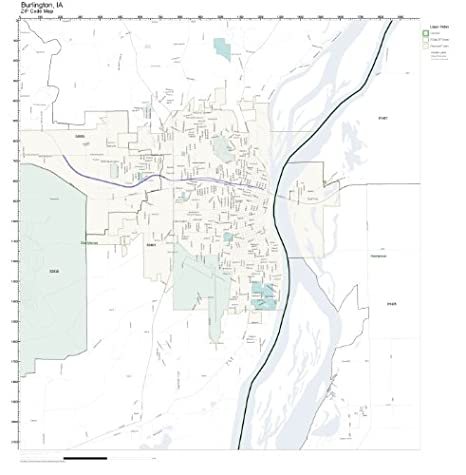 burlington ia map