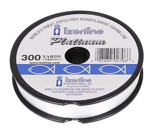 Izorline Platinum Co-Polymer Monofilament Clear Fishing Line – 300Yd Spool