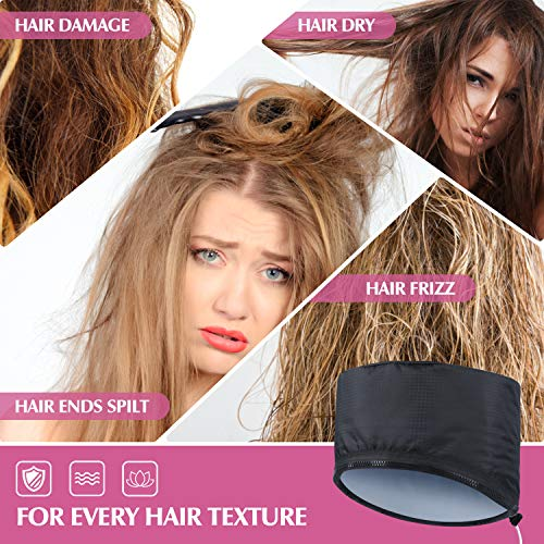 SPTHTHHPY Hair Steamer Heating Cap for Deep Conditioner,Hair Care Hat with Electric Hair Spa Beauty Steamer Nourishing Hot Head Care Hat Hair Thermal Treatment Cap for Home Use