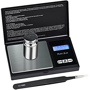 Mini Scales Digital Weight Grams - SKYROKU Pocket Portable Scale for Jewelry Weed Scientific Gold Grains, 100g by 0.01g (Batteries Included and Gift)