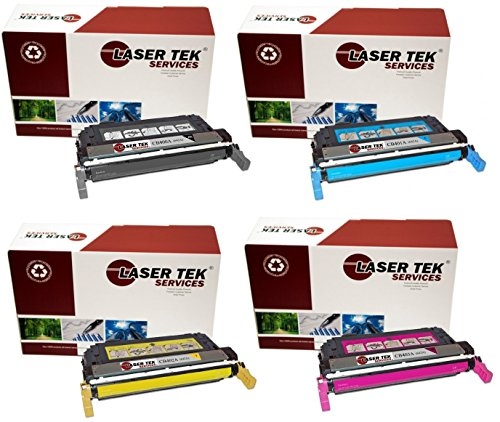 C9704a Remanufactured Drum Unit (Laser Tek Services Compatible 642A Toner Cartridge Replacement for the HP CB400A, CB401A, CB403A, CB402A. (Black, Cyan, Magenta, Yellow, 4-Pack))