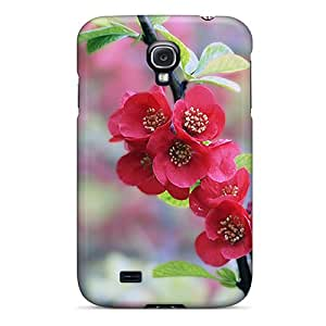 Durable Defender Case For Galaxy S4 Tpu Cover(flowers)