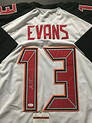 promo code 538d2 20305 Autographed/Signed Mike Evans Tampa Bay White Football Jersey JSA COA