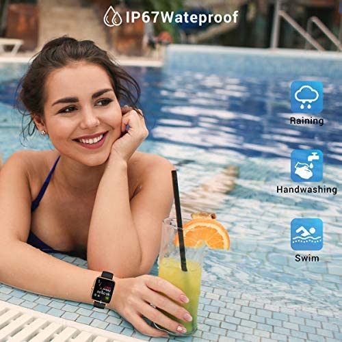 CanMixs Smart Watch for Android Phones iOS Waterproof Smart Watches for Women Men Sports Digital Watch Fitness Tracker Heart Rate Blood Oxygen Sleep Monitor Touch Screen Compatible Samsung iPhone 51ll5u dPDL