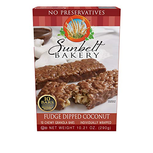 (Sunbelt Bakery Fudge Dipped Coconut Granola Bars, 1.1 oz Bars, 50 Count)
