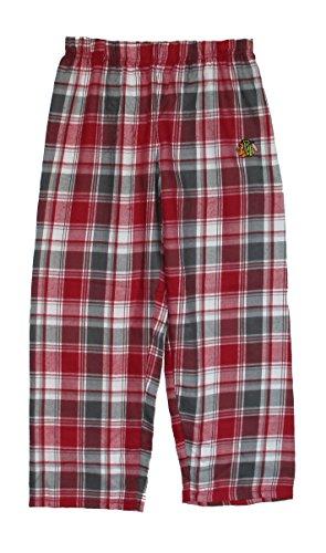 Chicago Blackhawks Youth X-Large Flannel Plaid Pajamas Sleep