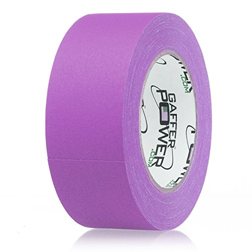 Real Professional Premium Grade Gaffer Tape by Gaffer Power - Made in The USA - Purple 2 Inch X 30 Yards - Heavy Duty Gaffers Tape - Non-Reflective - Multipurpose - Better Than Duct Tape.