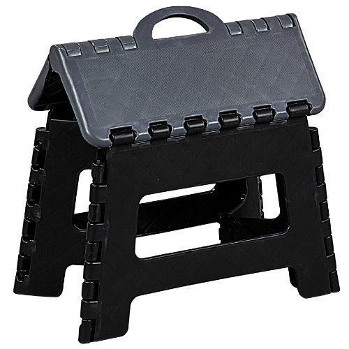 Kesper 70527 Klapptritt aus Kunststoff, Maße: 35 x 27 x 22 cm, schwarz