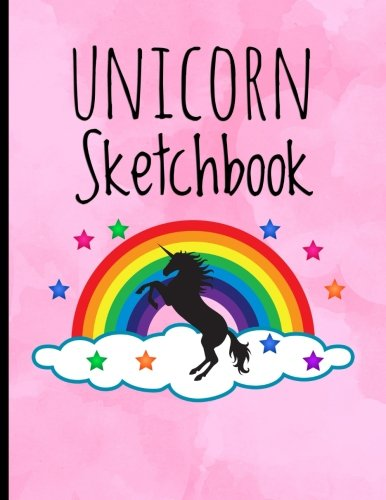 "Unicorn Sketchbook: 8.5"" X 11"", Personalized Sketchbook, 100 pages, Durable soft cover, Drawing notebook (Magical Stars Rainbow Unicorn) 3"