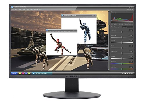 "Sceptre E205W-1600 20"" 75Hz Ultra Thin LED Monitor HDMI VGA"
