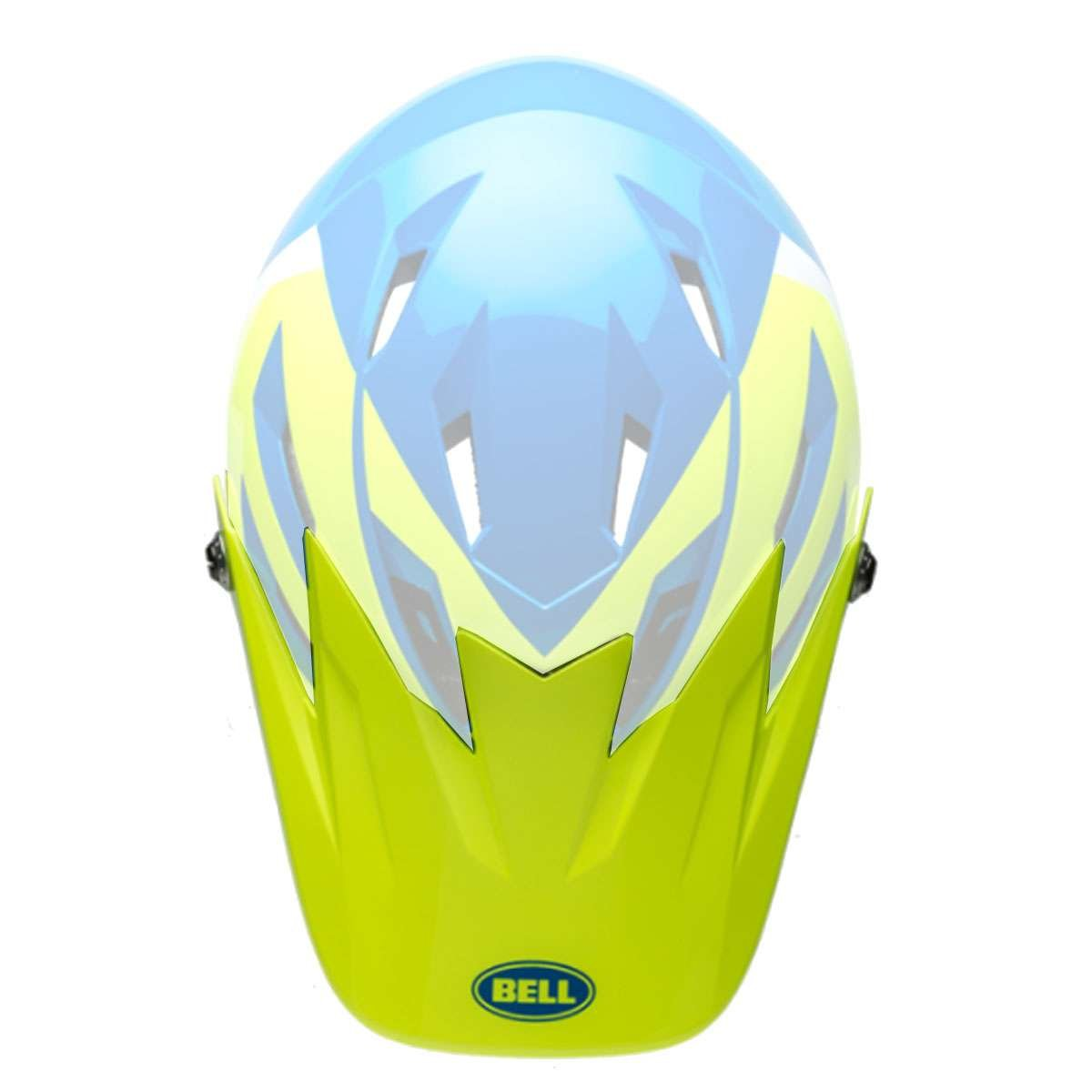 Bell Sports Sanction Helmet - Replacement Visor - Force Blue/Retina Sear - 7085299
