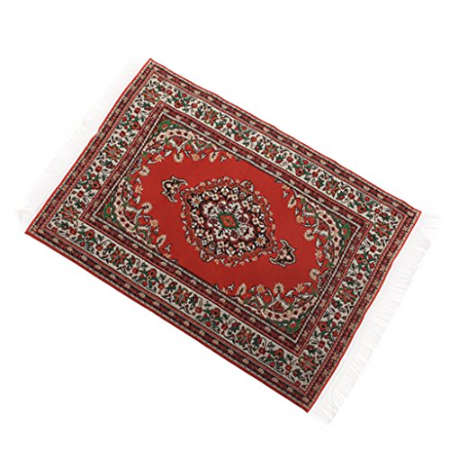 Red Miniatures Dollhouse Carpet Furniture Doll House Rug (Style 1)