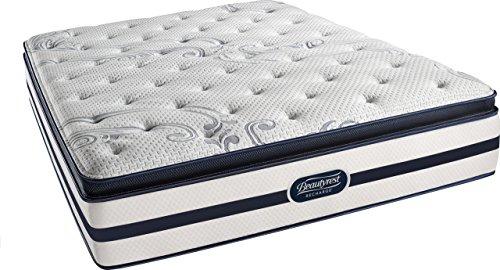 Beautyrest Recharge Simmons Plush Pillow Top Mattress, Pocketed Coil, Air-Cool Gel Memory Foam, California King (Beautyrest Mattress)