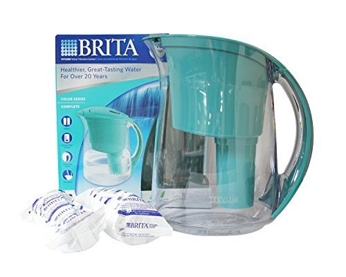 Brita Water Filtration System Kit: 1 Pitcher (Large Capacity) Plus 2 Fliters - Blue by Brita (Brita Water Pitcher Fliter compare prices)