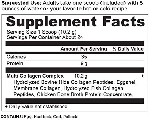 Multi Collagen Protein Powder Pure, Formulated by Dr. Josh Axe, 5 Types of Food Sourced Collagen Peptides, Supports Hair, Joints, Skin and Nails, Made Without Gluten & Dairy, 8.6oz 5
