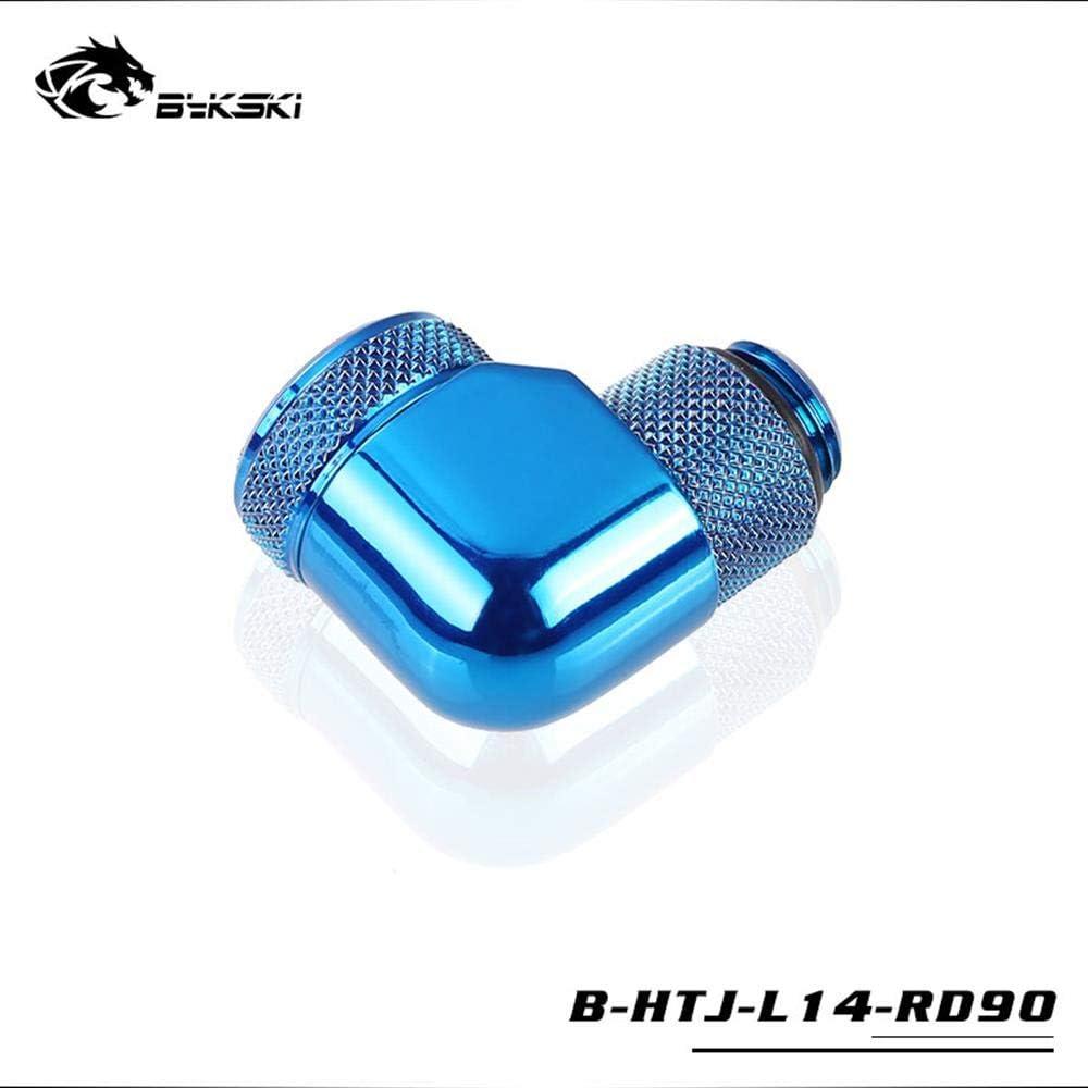 Bykski 14mm Elbow Rigid Tube Fitting Joint B-HTJ-L14-RD90 Blue