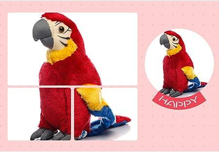 YeahiBaby - 1 peluche de loro para niños (diseño de pájaros de peluche, 1 unidad)