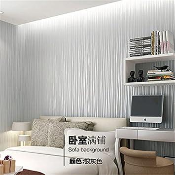 Jedfild 10 m mit Vlies Tapete Schlafzimmer Einfache Streifen Voll ...