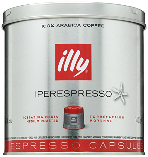 illy iperEspresso Capsules Medium Roasted Coffee, 5-Ounce, 21-Count Capsules