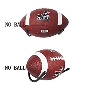 YYST Football Wall Mount Football Wall Rack Holder Display Storage Rack Black-No Ball Included