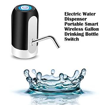 Panamami Elektrischer Wasserspender Tragbarer Gallonen-Trinkflaschenschalter Intelligente kabellose Wasserpumpen-Wasseraufbereitungsger/äte Schwarz