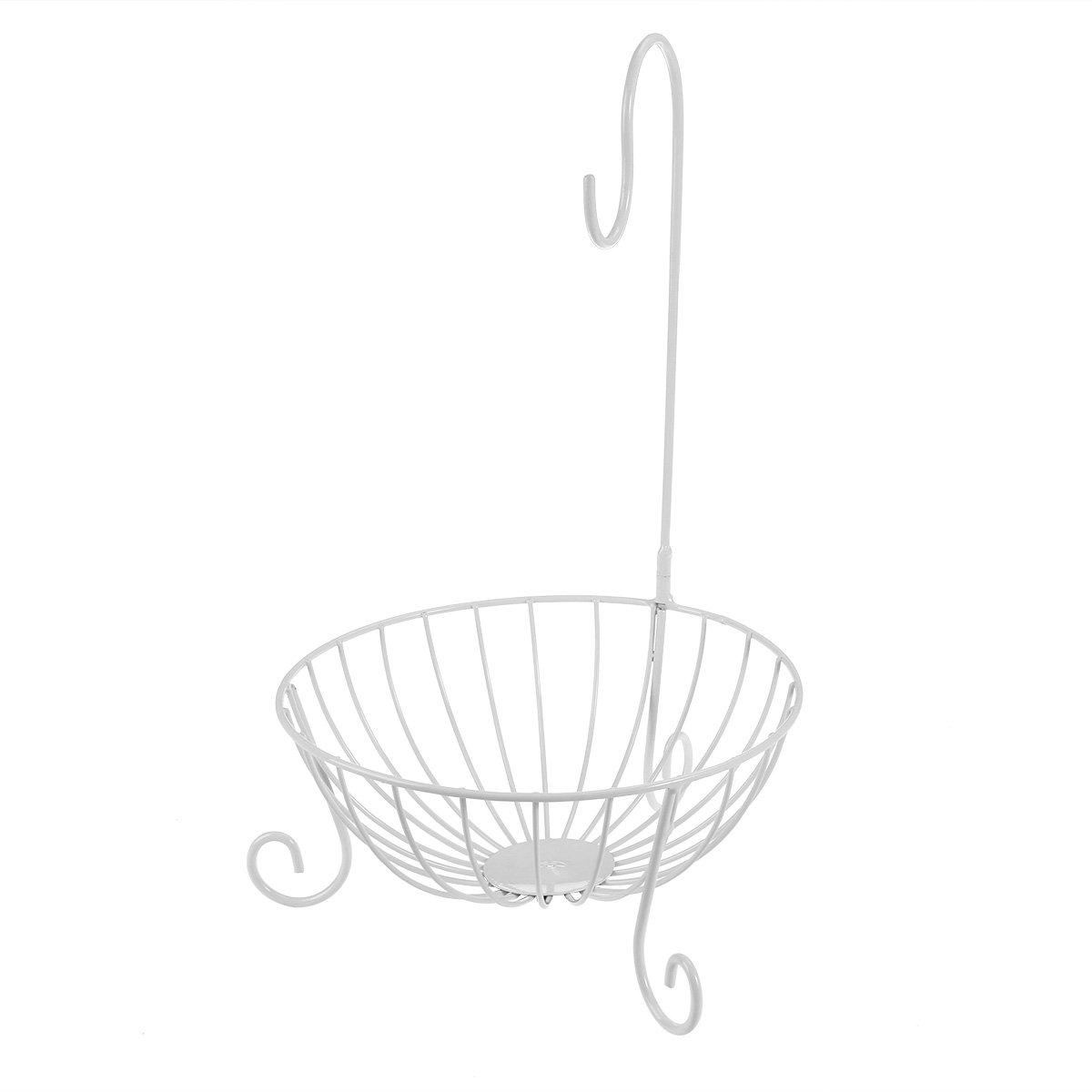 WINOMO メタルフルーツバスケット 取り外し可能なホルダーフック付き (ホワイト) B0723CHY8J