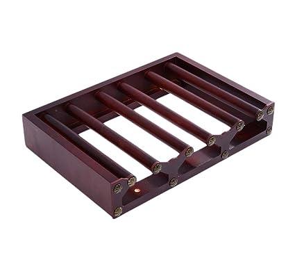 Portavasos de madera maciza Portavasos de vidrio invertido Colgante para el hogar Portavasos alto Creatividad Portavasos