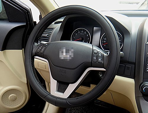 Black Fashion Universal Fit Leather Texture Soft Silicone Car B Steering Wheel Cover Medium Size Odorless 3 Colors BMW X1 X3 X5 X6