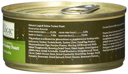 Image of Nature'S Logic 24 Count Feline Turkey Canned Food, 24-5.5 Oz