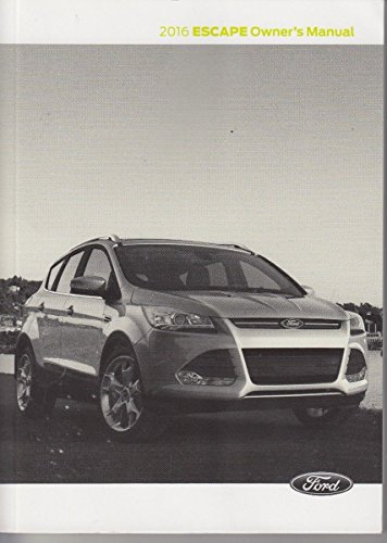 2016 Ford Escape Owner's Manual Guide Book (Electronic Manual)