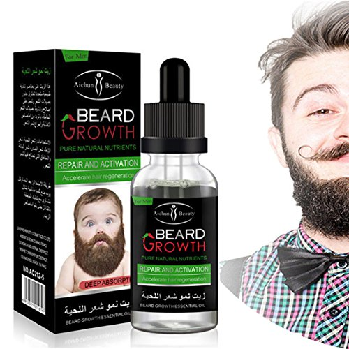 EDTara Moisturizing Fast Growth Nourishing Oil Natural Organic Beard Essential Oil 30ml