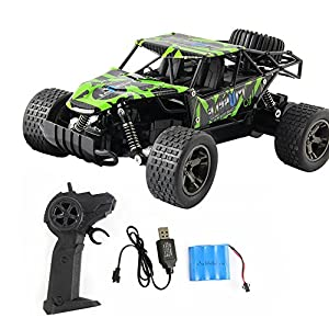 Electric Radio RC Truck with Full-Time 4-Wheel Drive System High Speed Remote Control Racing Truck Car Kids Republic 1/20 Scale Off Road Truck with 4 Shock Absorbers, Ages 8+ Kids Boys Toys (A)