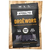 Ayoba-Yo Droewors. Grass Fed Beef Sticks. Keto Certified, Paleo Certified and Whole30 Friendly. High Protein Steak Cuts. Made with Premium Meat. Gluten and Nitrate Free, No Sugar. 2 Ounce For Sale