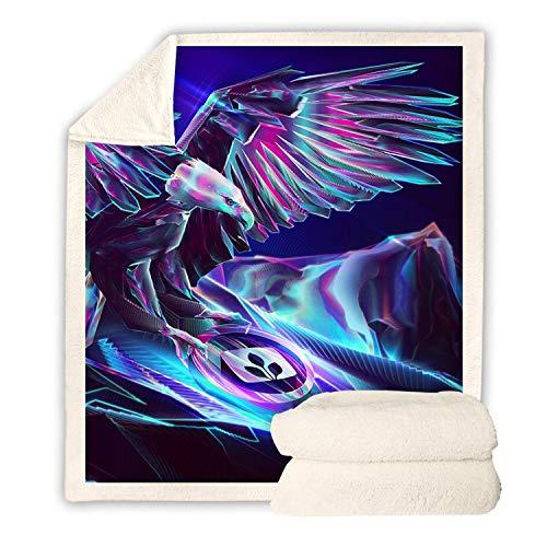 URVIP Sherpa Fleece Blanket Throw Print Plush Blanket for Sofa Clair Bed Office BZ-133 L -