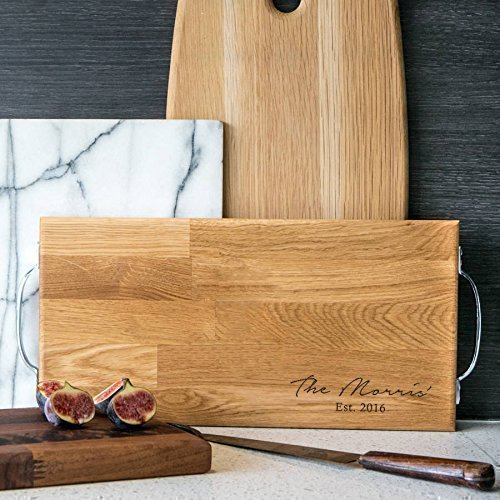 Personalized Cutting Board / Oak Chopping Board / Personalized Gifts for Family / House Warming Presents / Wedding Anniversary Gifts Large Rectangular Cutting Board