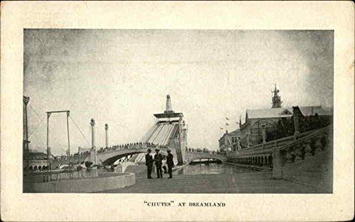 Island Dreamland Coney (Chutes at Dreamland Coney Island, New York Original Vintage Postcard)