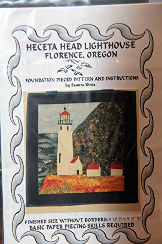 Heceta Head Lighthouse Quilt Pattern - Finished Size 9 3/4