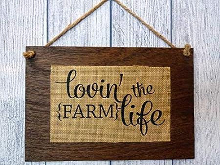 Brosfeson Lovin The Farm Life - Cartel de Madera rústica ...