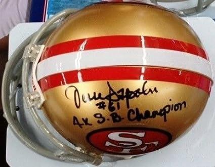 "5a098854e Jesse Sapolu Signed Autograph 49ers Mini Helmet ~ ""4x Sb Champ""  Inscription Auto"