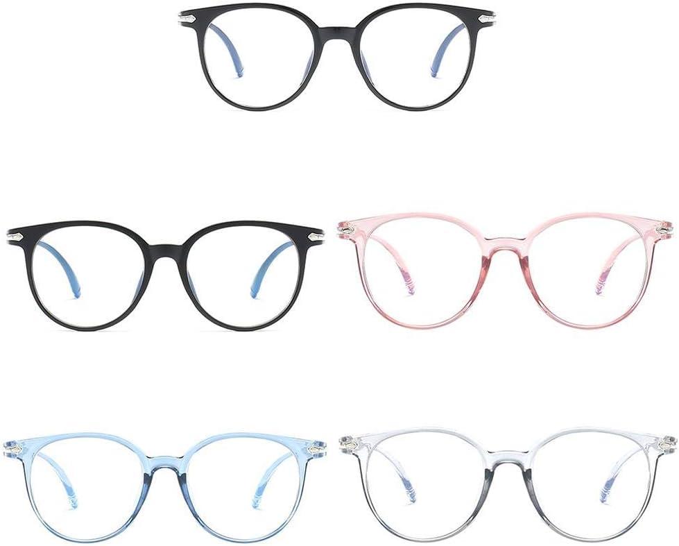NaroFace Spielbrille Blaues Licht blockierende und Anti-Gl/äser Blendung Unisex Schwarz + Blau