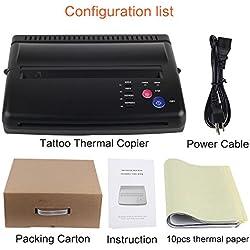 Copiadora térmica para máquina de transferencia de esténciles Black Tattoo con 10 unidades de papel de transferencia