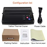 Black Tattoo Transfer Stencil Machine Thermal Copier Printer with 10 pcs transfer Papers