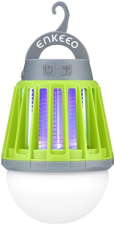 Enkeeo Camping Lantern Mosquito Repellent Bug Zapper Tent Light USB Rechargable